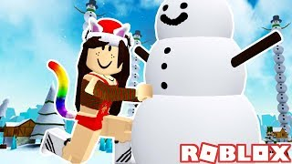 MAKING SNOWMAN WITH PAW FANS! ROBLOX SNOWMAN SIMULATOR
