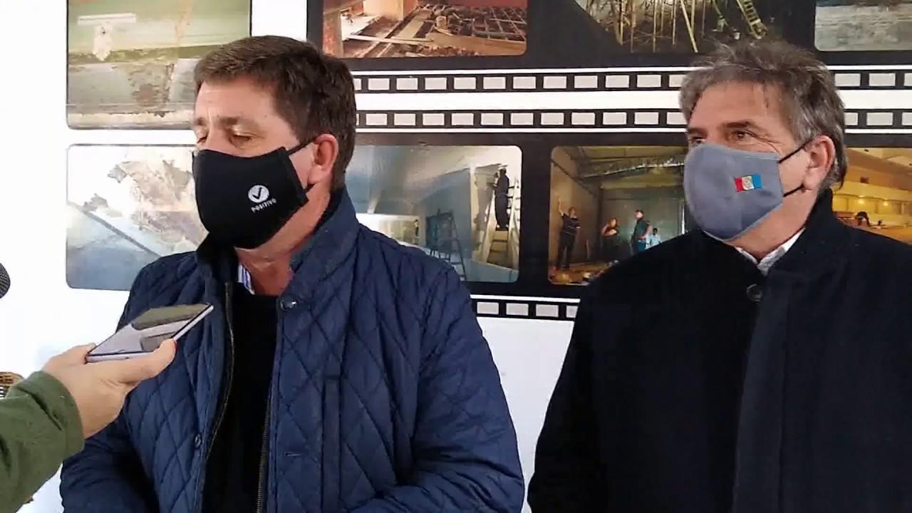 Pirola y el Ministro de Cultura visitaron el Cine Teatro Rivadavia