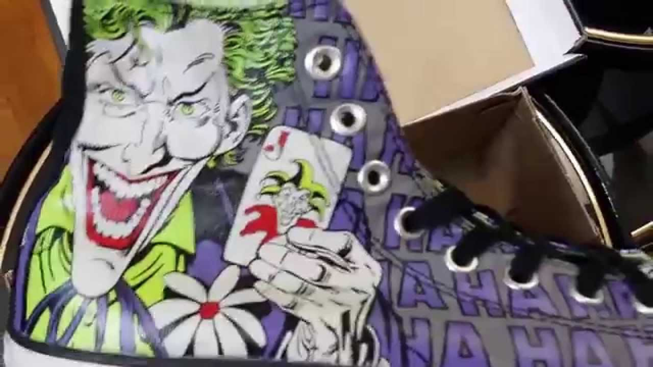 Joker Batman Converse Shoes Youtube