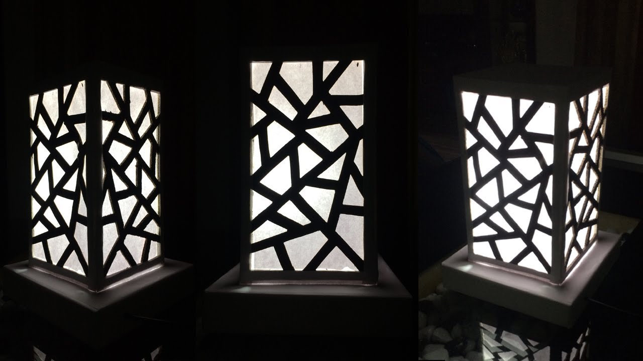 How To Make A Night Lamp Easy | Lampshade | Lighting Idea | Homemade Lamp |  By Dots DIY