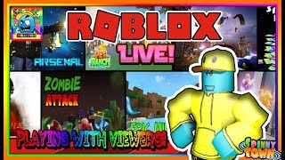 Roblox #112 | PLAYING WITH VIEWERS! | LIVE | (sjk livestreams #346)