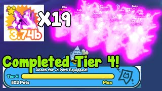 Got Full Team Of Dark Matter M-6 Prototype! Completed Tier 4 Collection! - Pet Simulator X Roblox