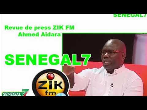 Revue de presse (Wolof) Zik Fm du Mardi 03 Décembre 2019 avec Ahmed Aidara