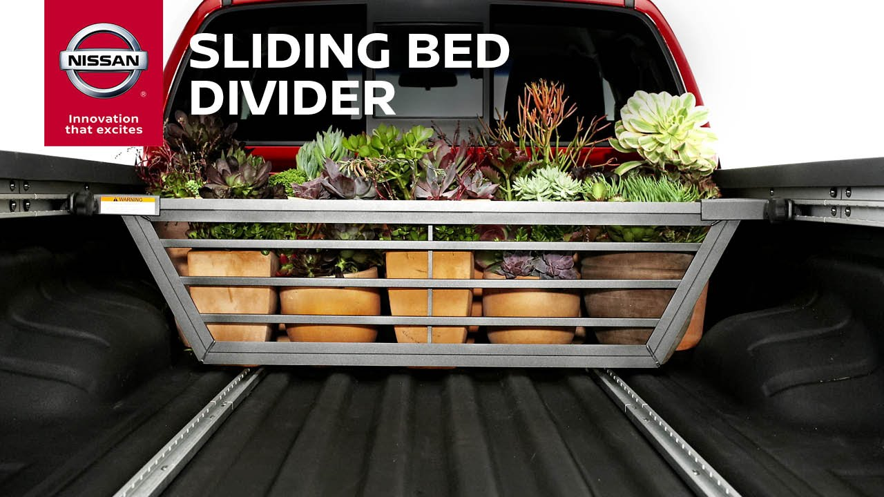 truck sliding bed divider | genuine nissan accessories - youtube