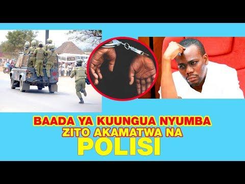 ZITO KABWE BAADA YA KUUNGULIWA NYUMBA SASA MIKONONI MWA POLISI