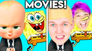 MOVIES WITH ZERO BUDGET! (Boss Baby, Hotel Transylvania, Big Hero 6, Incredibles, Sing!, & MORE!)