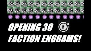 DESTINY 2: OPENING 30 FACTION RALLY ENGRAMS! DEAD ORBIT LOOT HAUL!