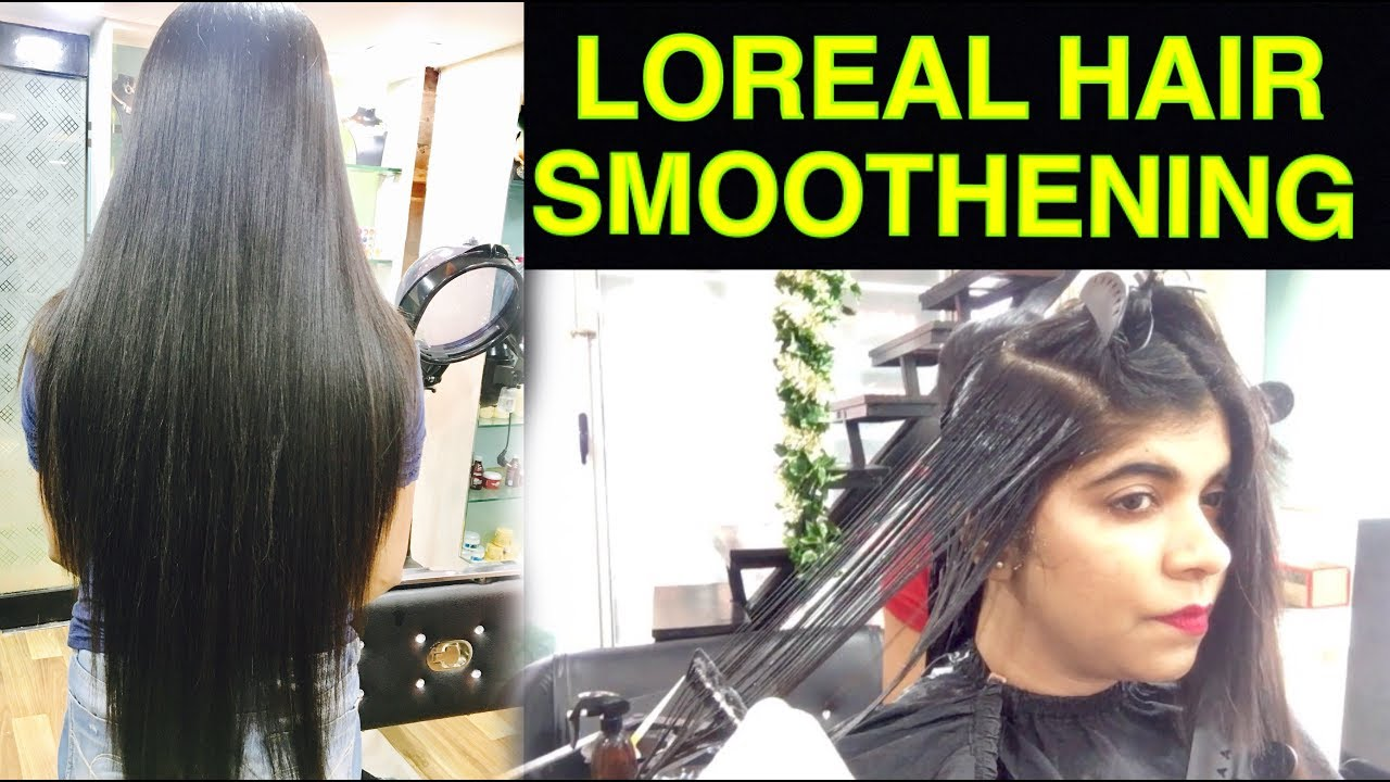 Hair Smoothening Tutorial In Hindi How To Do Permanent Loreal Hair Smoothening Ruchistylecorner