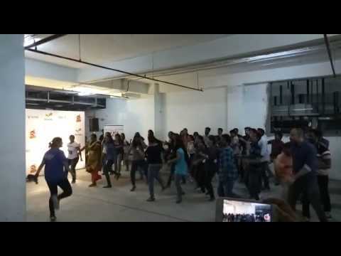 Dance Practice on Bangalore Office Staff