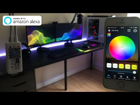 Control Any LED Light Strip With Your Phone (Works with Alexa & Google Home)
