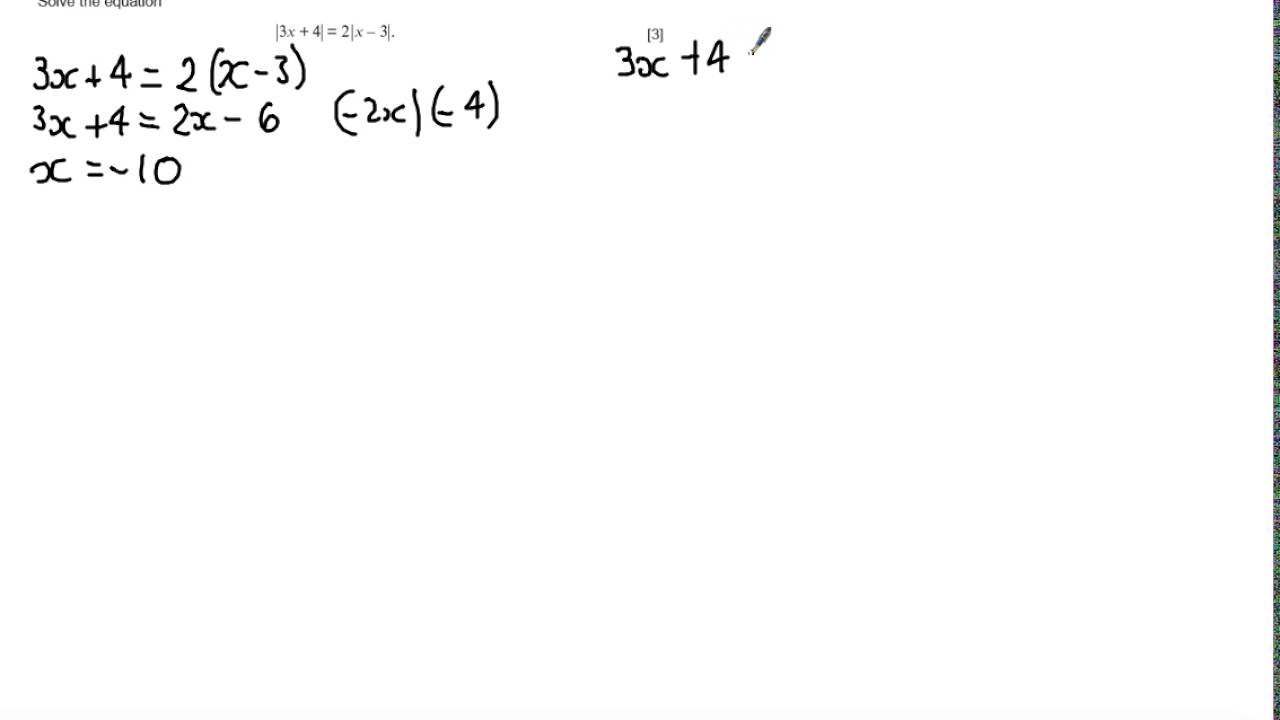 wjec c3 jan 2014 q8 - modulus functions solution