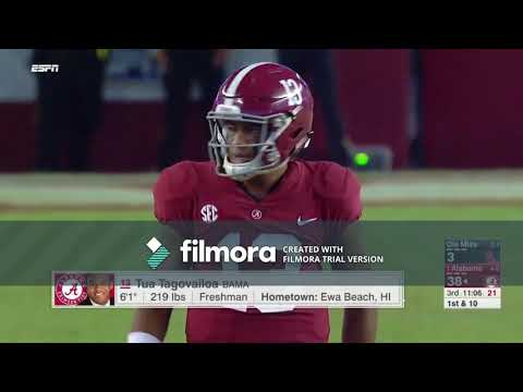 Tua Tagovailoa Freshman Year - Every Play