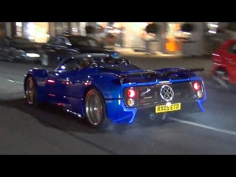 Pagani Zonda V12 Sound - Tunnel Blast, Burnouts and Revs in London