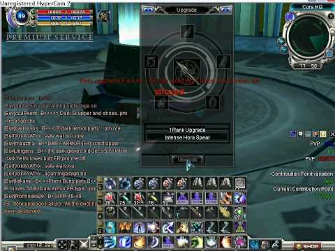 RF Online - Upgrading +6 int hora spear to +7 - must see - how it failed