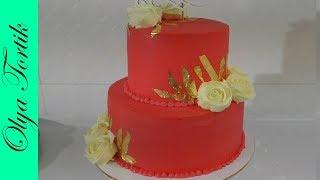 ТОРТЫ ТОРТ ДЛЯ МАМЫ Сборка и украшение торта Розы из крема