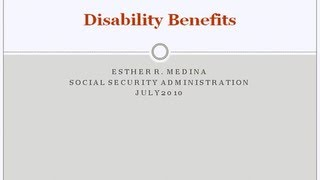 Social Security: Disability Bęnefits Webinar
