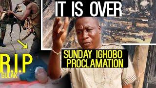 Breaking:It is Over!Sunday Igboho Proclamation!R.I.P Gulak
