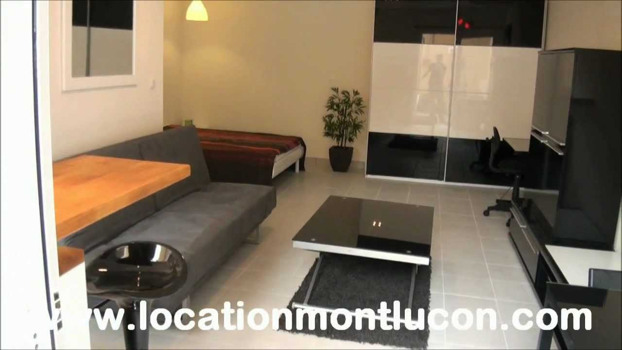 location appartement studio meuble avec particulier a montlucon 03100 youtube. Black Bedroom Furniture Sets. Home Design Ideas