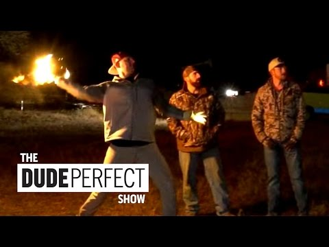 Thumbnail: Dude Perfect Does Unbelievable FIRE Trick Shots on The Dude Perfect Show