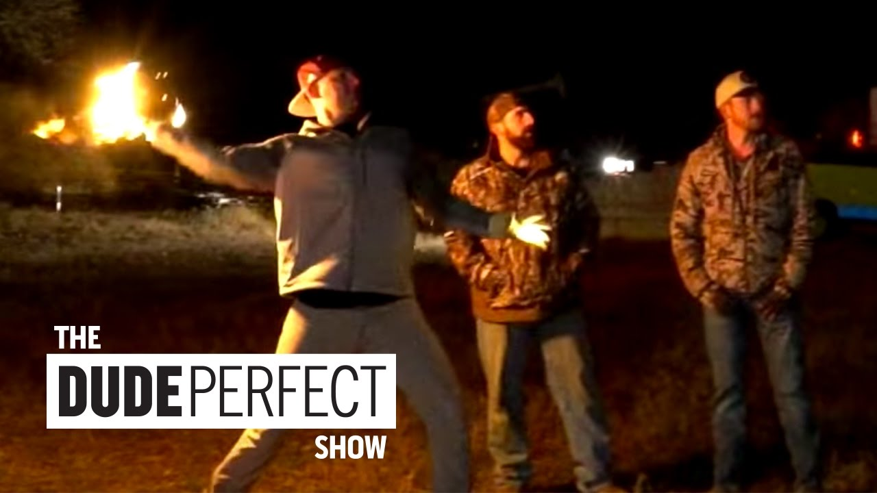 Dude Perfect Does Unbelievable FIRE Trick Shots on The Dude Perfect Show