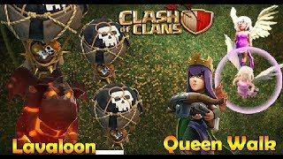 TH9 QUEEN WALK LALOON THE BEST WAR ATTACK STRATEGY - CLASH OF CLANS
