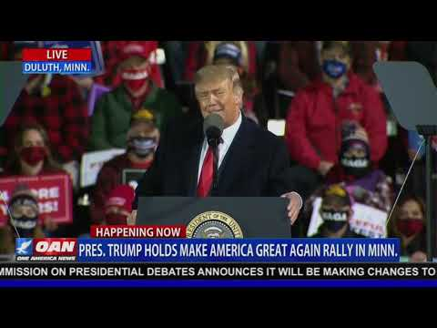 "President TRUMP Holds ""Great American Comeback"" Rally in Duluth, MN 9/30/20"