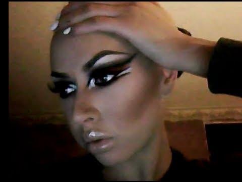 Smokey Cat Eye Makeup Tutorial! MAC Face Chart Inspired - YouTube