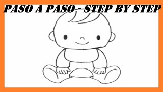Como dibujar un Bebé l How to draw a Baby