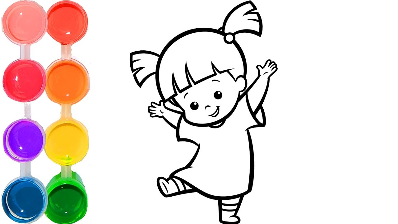 How To Draw Boo From Monsters Inc Movie Art Cartooning Drawing Step By Step Tutorial Disney Toys Youtube