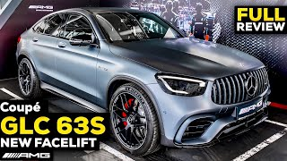 2020 MERCEDES AMG GLC 63S Coupé FACELIFT V8 Full Review BRUTAL Sound MBUX Interior Exterior