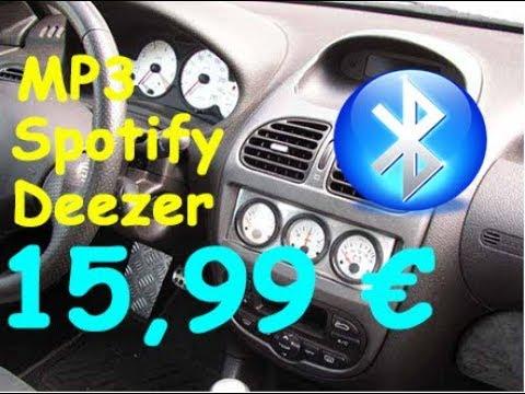 Bluetooth dans la voiture pour seulement 15€  ( Deezer, Spotify, Kit main libre, Mp3 ..)