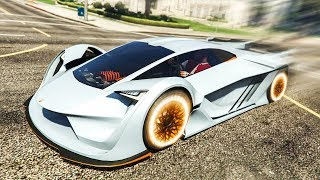 NEW FASTEST SUPER CAR IN GTA 5? - (GTA 5 DLC Stunts & Fails)