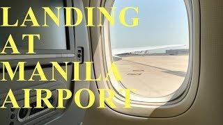 SAUDI  ARABIAN  AIRLINES // Jeddah to Manila Ninoy Aquino international airport //Landing at Manila