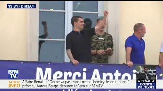 Antoine Griezmann accueilli en héros à Mâcon