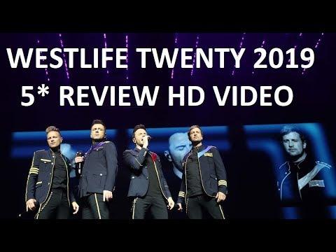 5* REVIEW Westlife 20 UK TOUR 2019 - Celebrity Radio By Alex