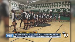 Students fight to get fired volleyball coach back