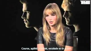 interview de jennifer lawrence en vostfr pour hunger games