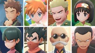 SOLO PIKACHU Vs All Gym Leader Battles in Pokemon Let
