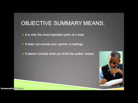 Objective summary Essay Help kitermpapertkcysupervillaino - what is an objective summary