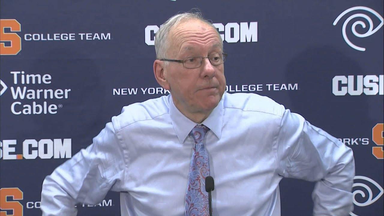 Head Coach Jim Boeheim Comments On Win Over Duke Syracuse Men S