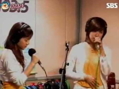 [20071005] SNSD Taeyeon & Tiffany - Because of You (Kelly Clarkson)
