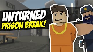 One of Fudgy's most viewed videos: PRISON BREAK - Unturned Epic Escape   Run For It! (Funny Moments)