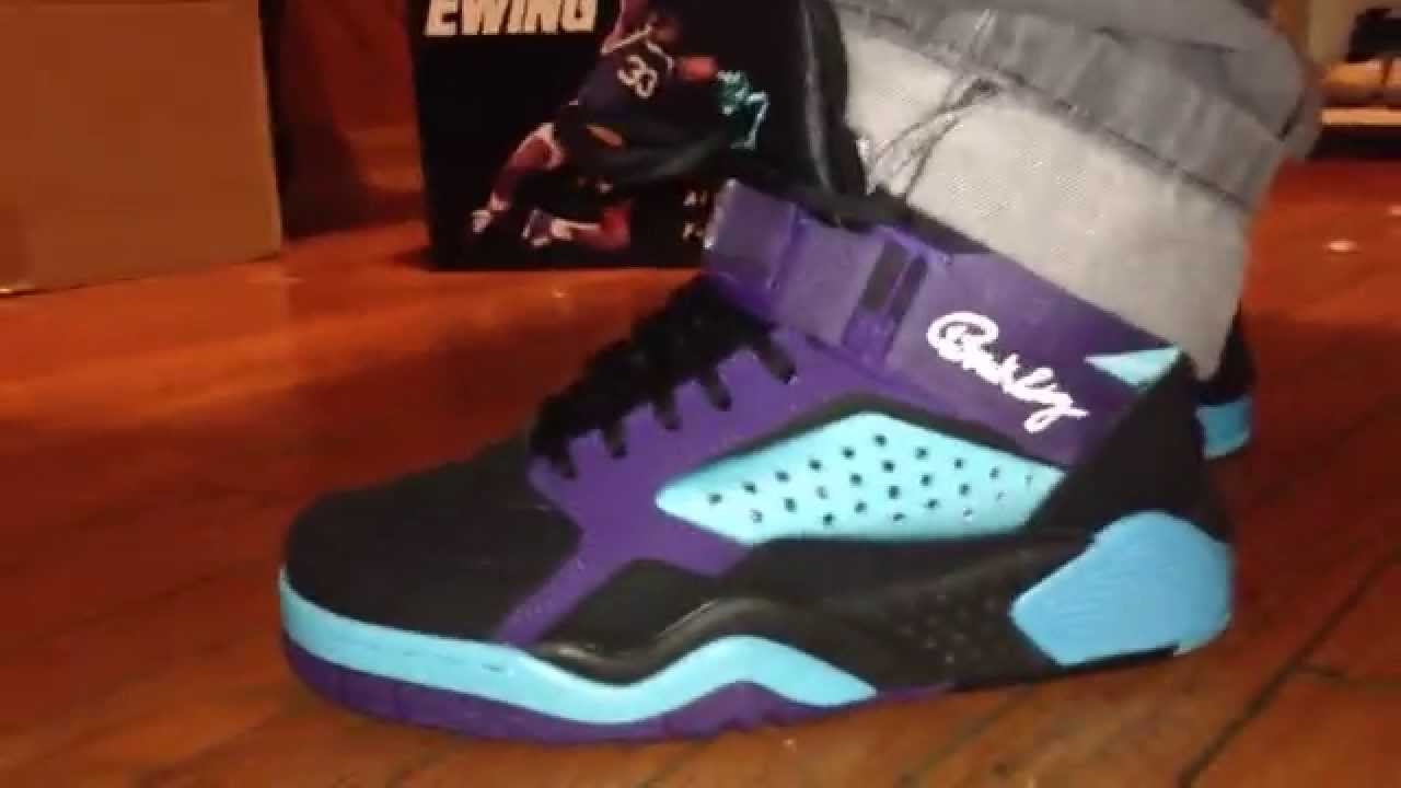 173bd81f730 Ewing focus hornets away colorway on foot review - YouTube