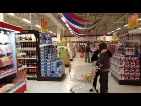 Chile Santiago Supermarket Earthquake Video