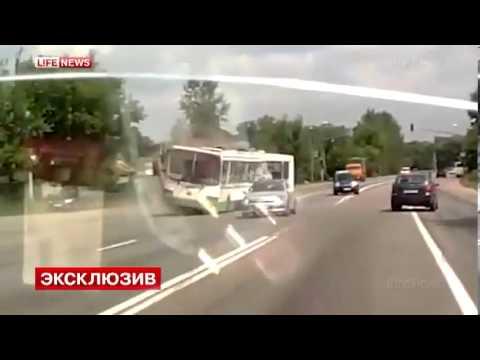 Авария в Ознобишино Подольск Щаповское Камаз Врезался в Автобус ДТП Жесть