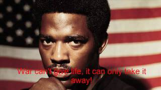 Edwin Starr War What Is It Good For + Lycris Hq!!