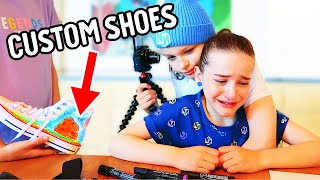 NAZ CRIED in CUSTOMIZING OUR SHOES Challenge By The Norris Nuts