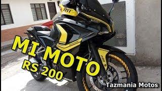 PULSAR RS 200 || MI MOTO MI COMPAÑERA // Tazmania Motos