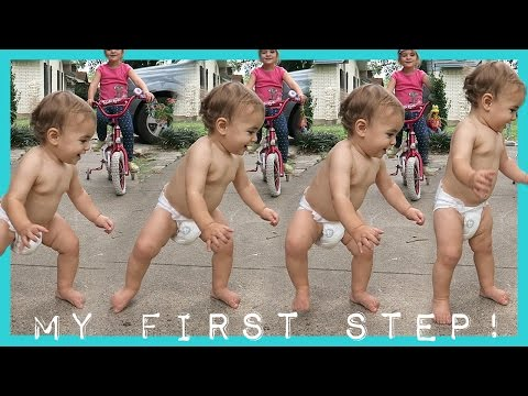 ABRAM TAKES HIS FIRST STEP!!