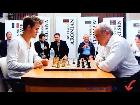 Magnus carlsen   kasparov best chess blitz game ever
